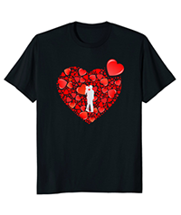 Lots Of Love Red Hearts Valentine's Day Novelty T-Shirt Gift